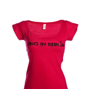 Living in Berlin Girlieshirt Pink